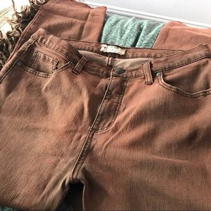 Free People Burnished Redwood Brown Jeans
